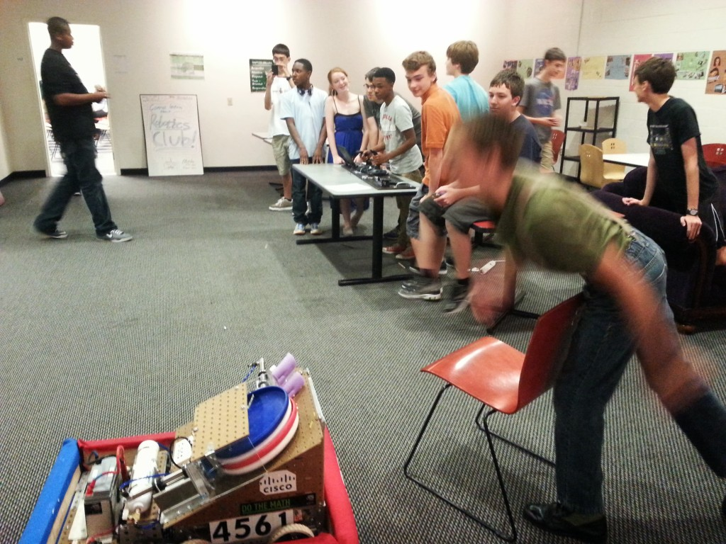 New Members try to rack up points in the Mini-Competition